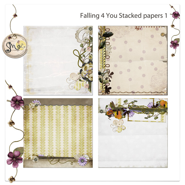 Falling for you Stacked papers 1