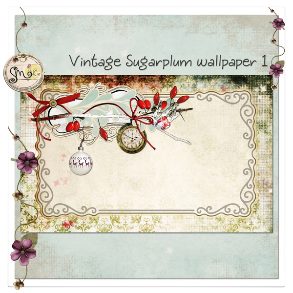 Vintage Sugarplum Wallpaper 1
