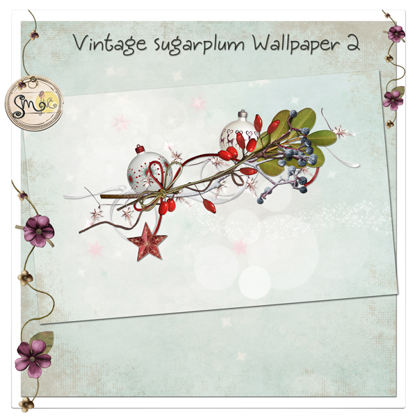 Vintage Sugarplum Wallpaper 2